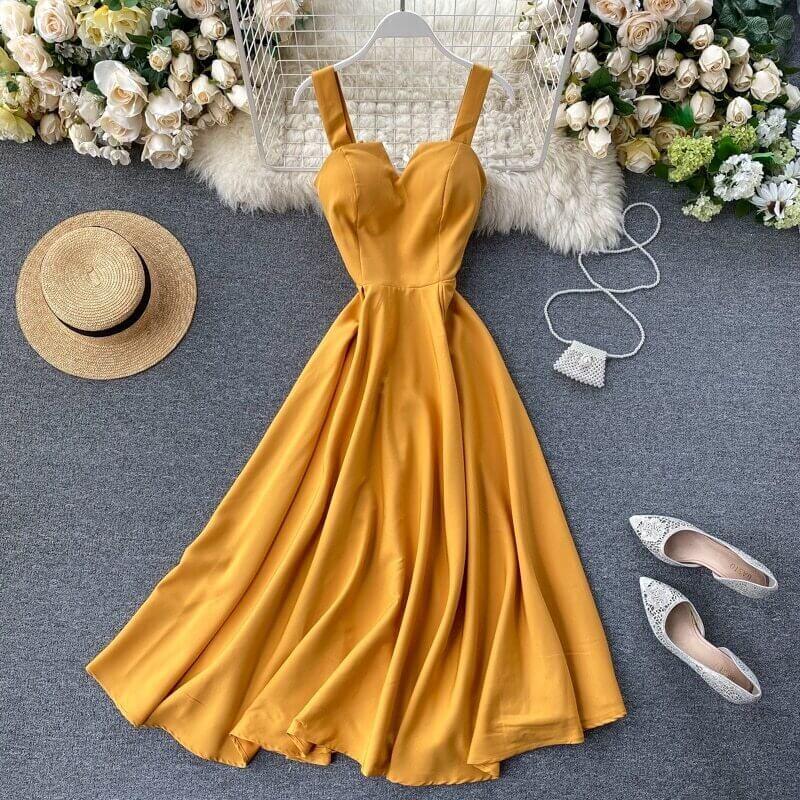 Элегантное летнее платье с Алиэкспресс