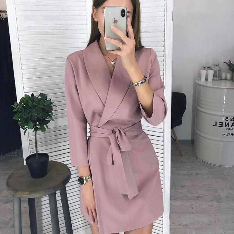 Красивое офисное платье с Алиэкспресс