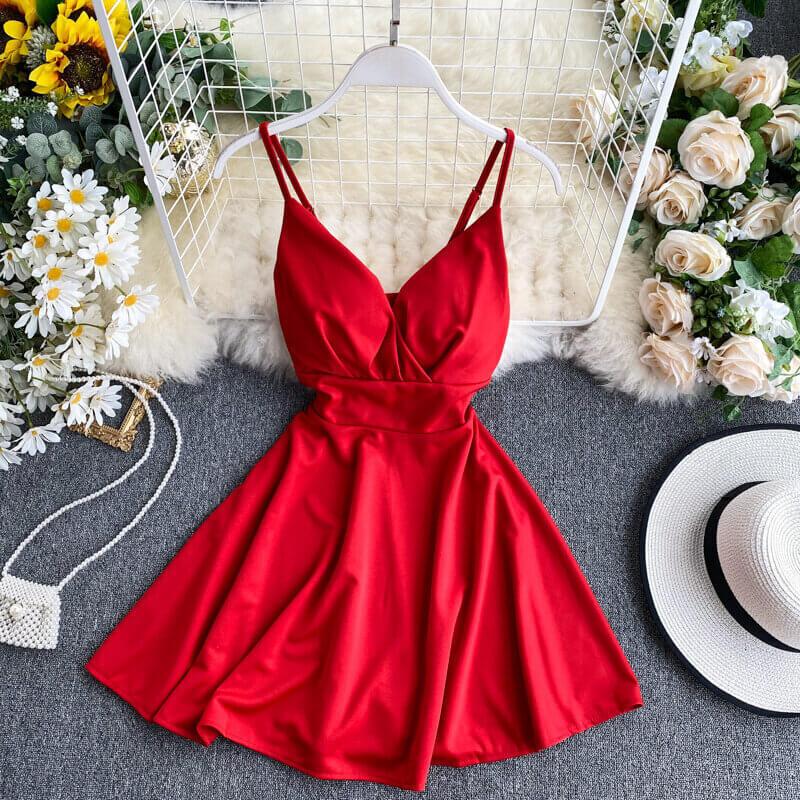 Красивое платье на лето с открытой спиной с Алиэкспресс