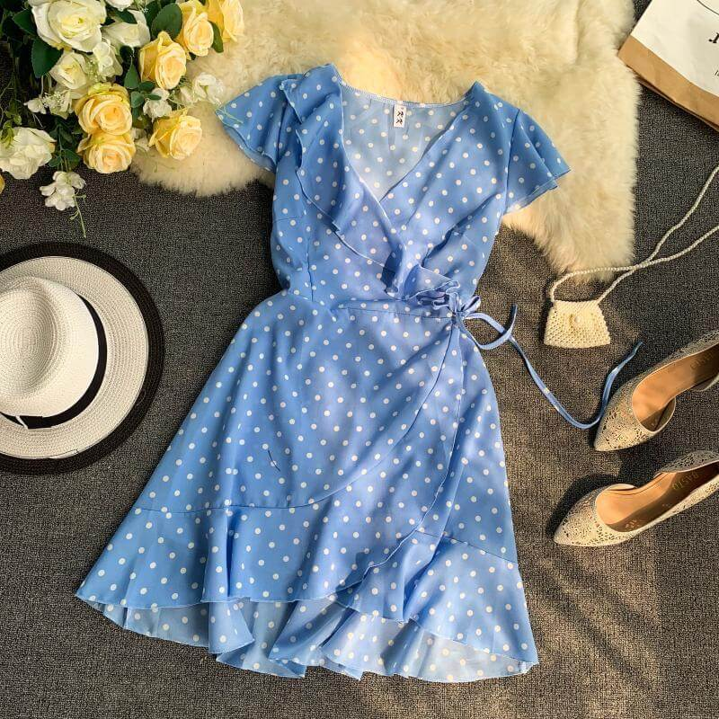 Лёгкое короткое платье на лето с Алиэкспресс