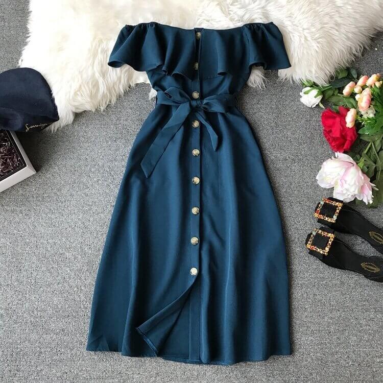 Отличное повседневное платье на лето с Алиэкспресс