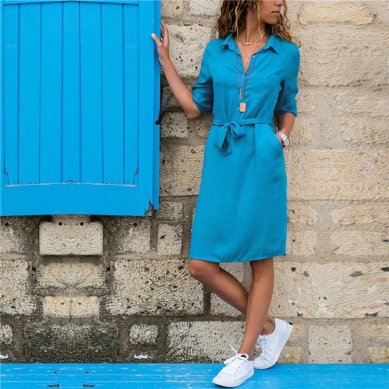 Платье-рубашка на лето с Алиэкспресс