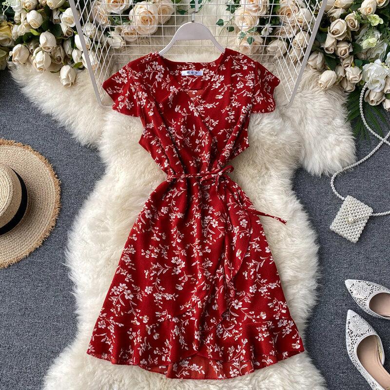 Платье с цветочным принтом на лето с Алиэкспресс