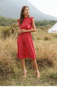 Платье в горошек на лето с Алиэкспресс