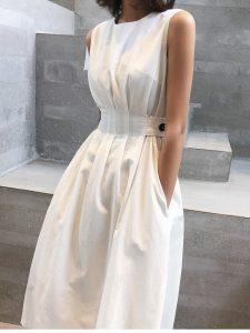 Стильное платье на лето без рукавов с Алиэкспресс