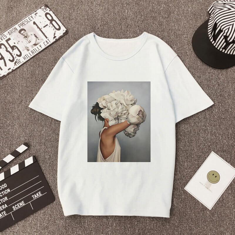 Женская футболка с популярным принтом с Алиэкспресс