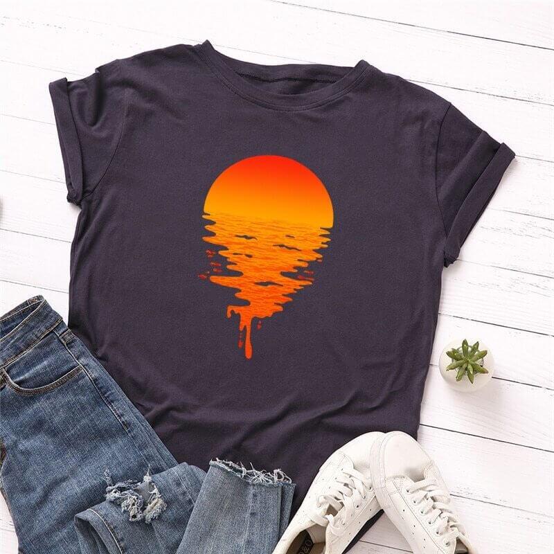 Женская хлопковая летняя футболка с Алиэкспресс