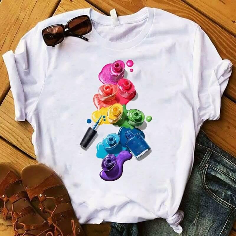 Женская красивая футболка с 3D-принтом с Алиэкспресс