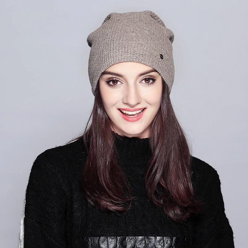Базовая женская шапка на осень-зиму с Алиэкспресс