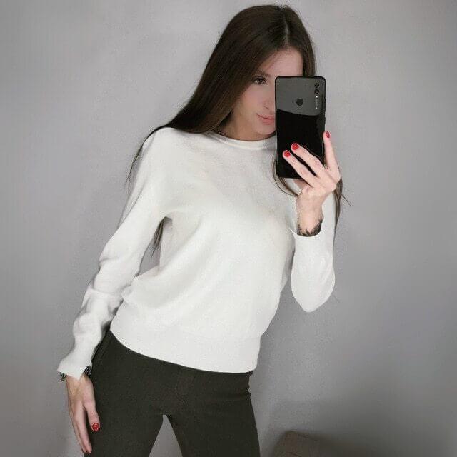 Базовый женский свитер с Алиэкспресс