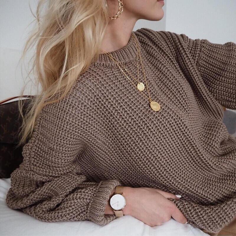 Элегантный женский свитер с Алиэкспресс