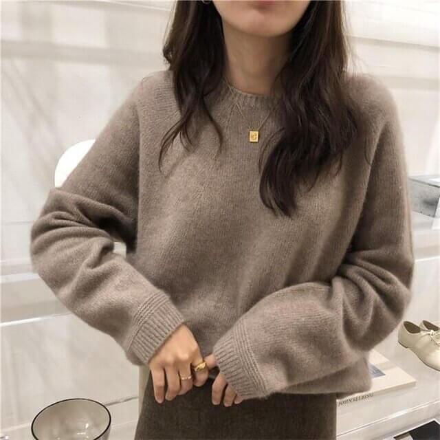 Кашемировый женский свитер с Алиэкспресс