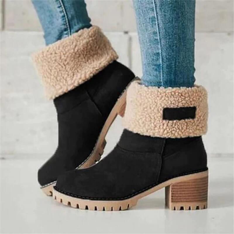 Красивые ботинки на меху с Алиэкспресс
