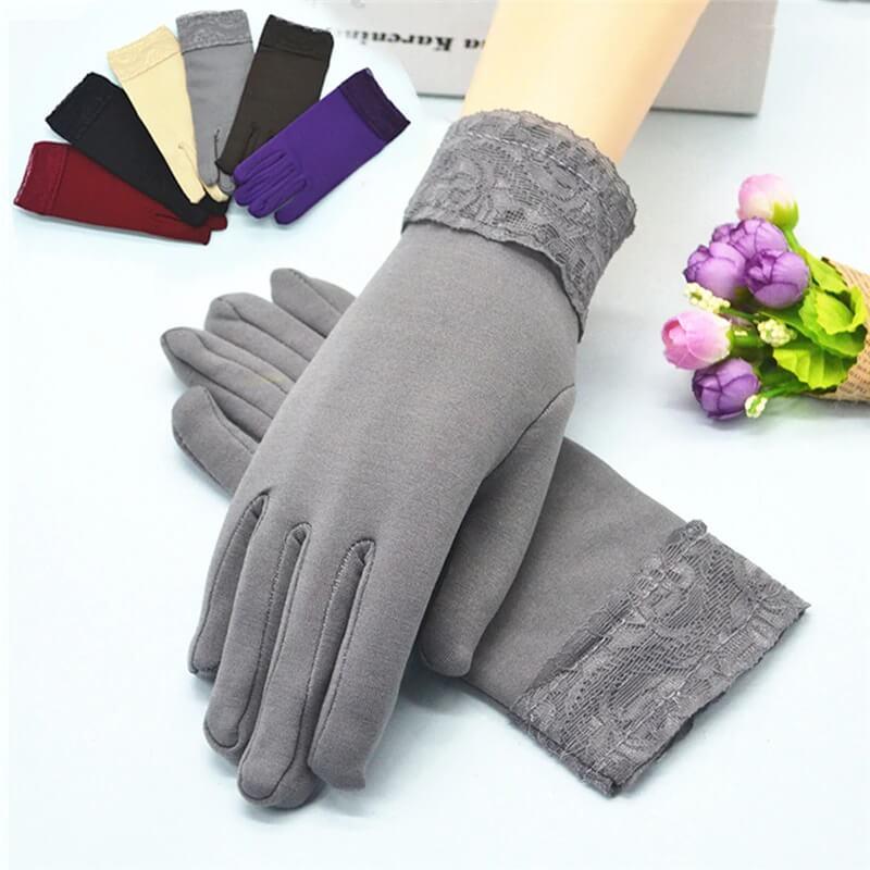 Красивые женские осенне-зимнее перчатки с Алиэкспресс