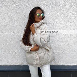 Крутая женская дутая куртка с Алиэкспресс