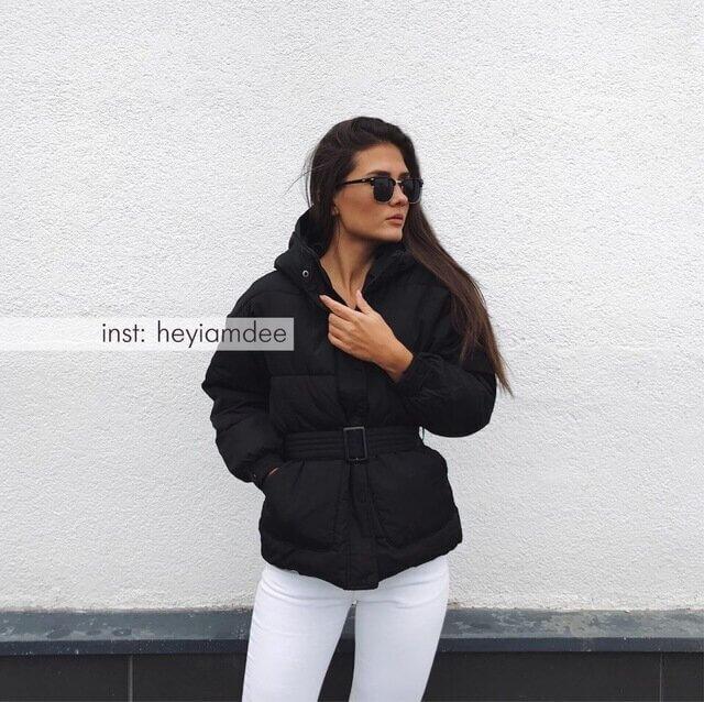 Крутая женская осенне-зимняя курточка с Алиэкспресс