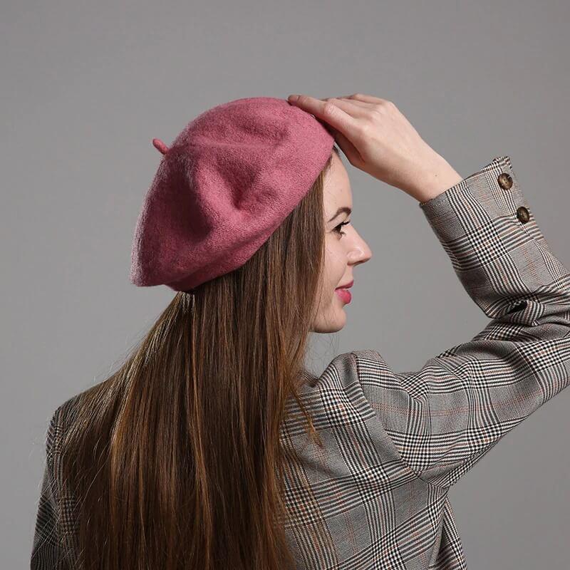 Модная женская шерстяная шапка с Алиэкспресс