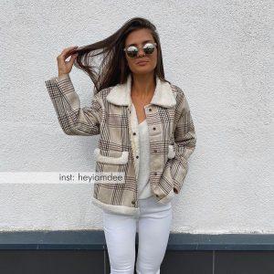 Шикарное женское пальто с Алиэкспресс