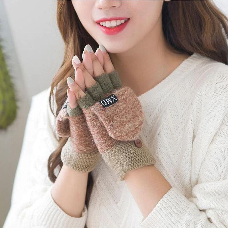 Стильные женские варежки-перчатки с Алиэкспресс