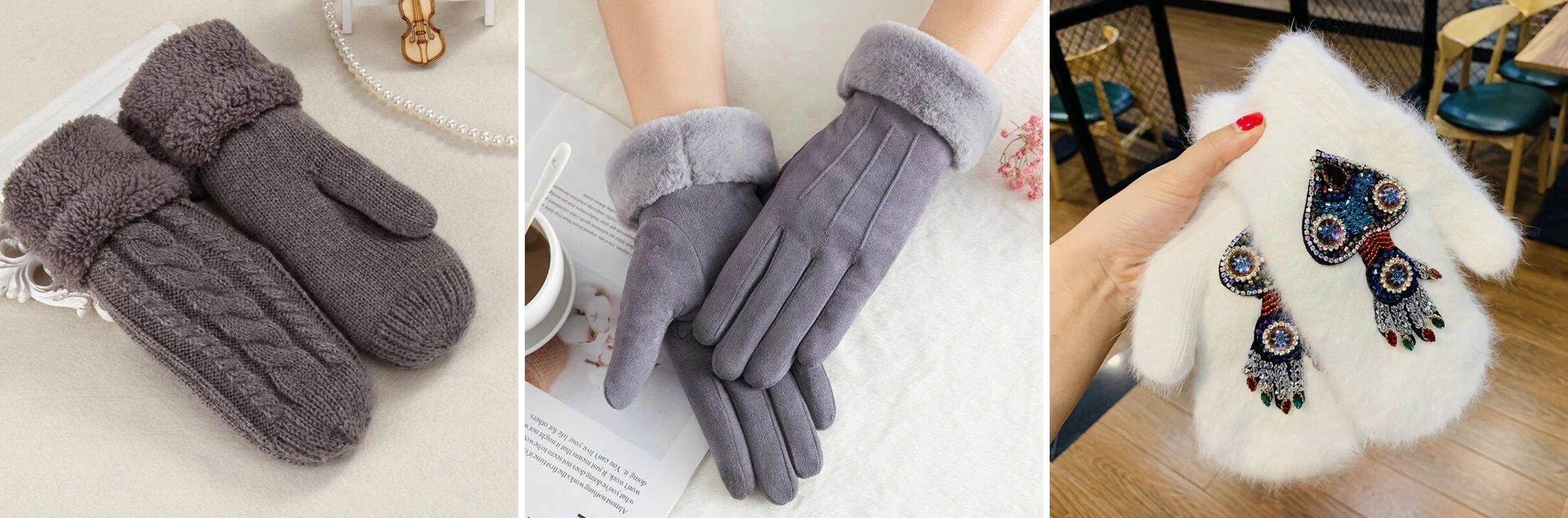 ТОП-10 женских варежек и перчаток с Алиэкспресс