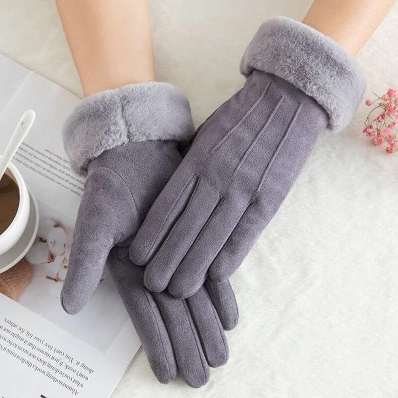 Тёплые женские перчатки на зиму с Алиэкспресс