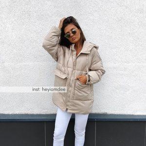 Утеплённая женская длинная куртка с Алиэкспресс