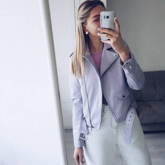 Женская косуха в стиле Zara с Алиэкспресс