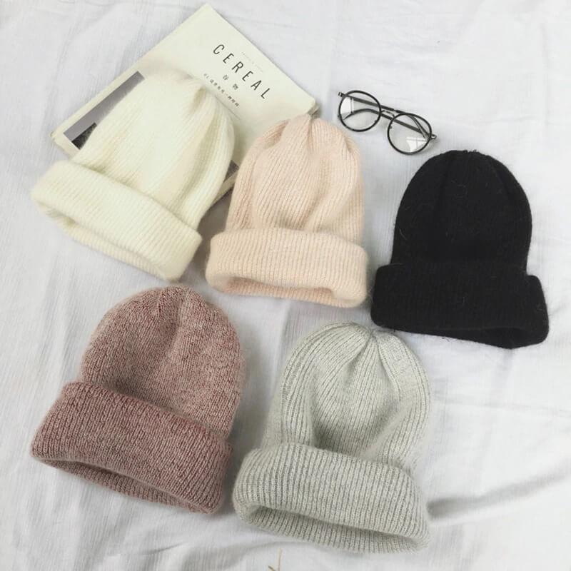 Женская тёплая зимняя шапка с Алиэкспресс