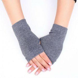 Женские стильные перчатки без пальцев с Алиэкспресс