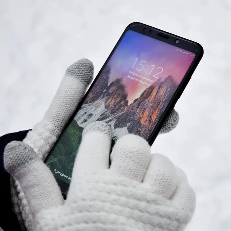 Женские перчатки для сенсорных экранов с Алиэкспресс