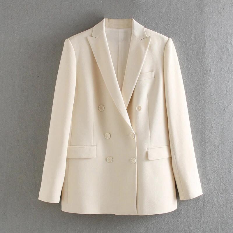 Женский качественный двубортный пиджак с Алиэкспресс