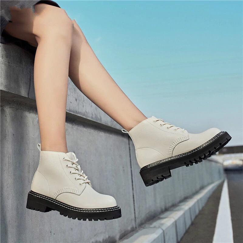 Зимние ботинкииз натуральной кожи с Алиэкспресс