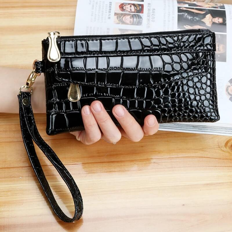 Хороший женский кошелёк из лакированной кожи с Алиэкспресс