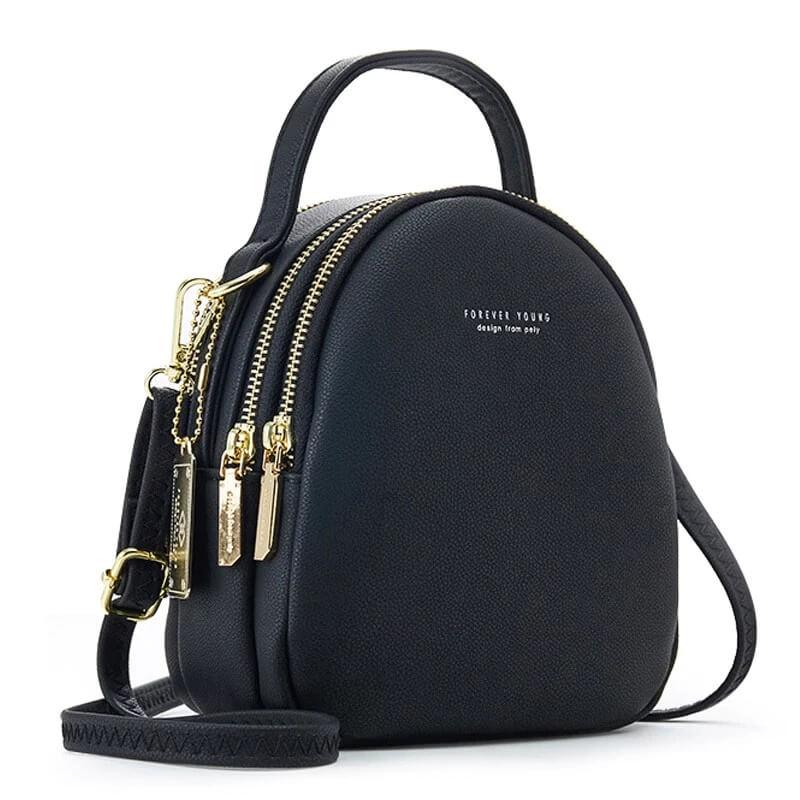 Небольшой женский рюкзак из кожзама с Алиэкспресс