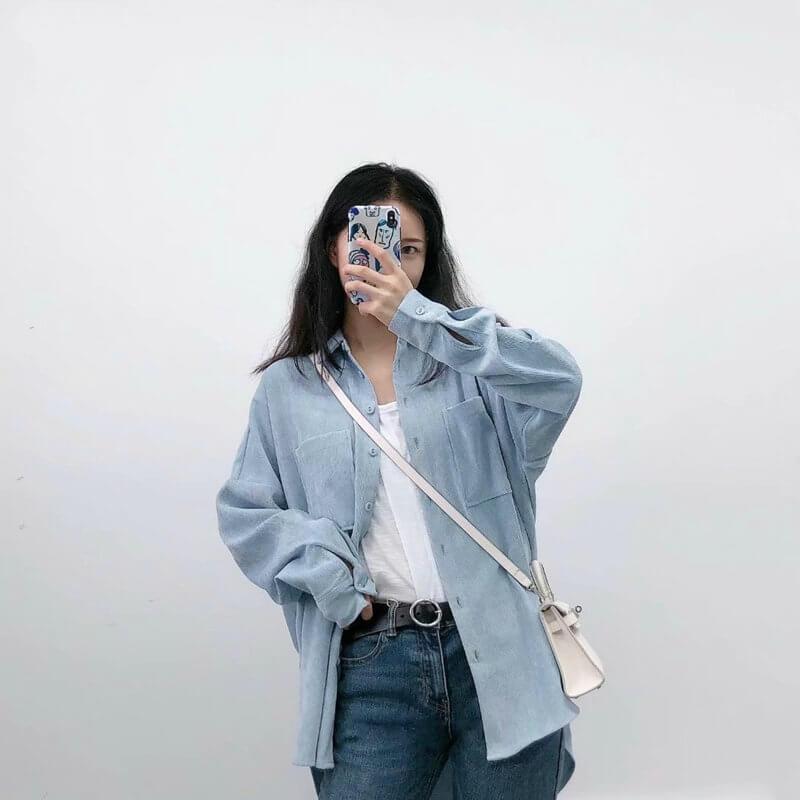 Отличная женская плотная рубашка с Алиэкспресс