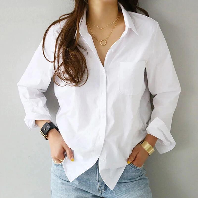 Повседневная женская рубашка с Алиэкспресс