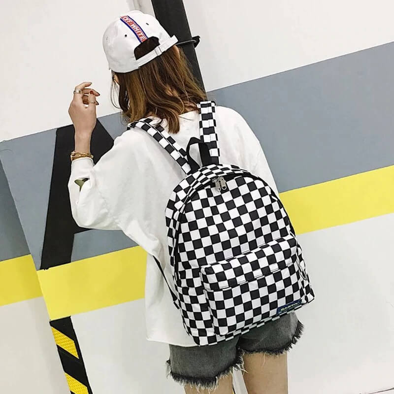 Стильный женский клетчатый рюкзак с Алиэкспресс
