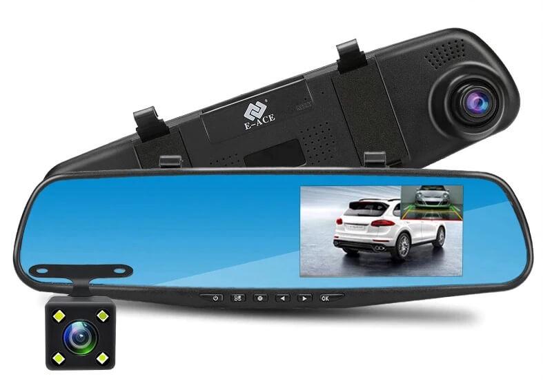 Видеорегистратор зеркало заднего вида E-ACE Full HD 1080P с Алиэкспресс