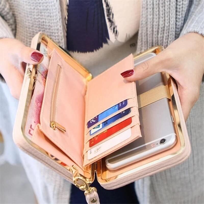 Вместительный женский кошелёк с Алиэкспресс
