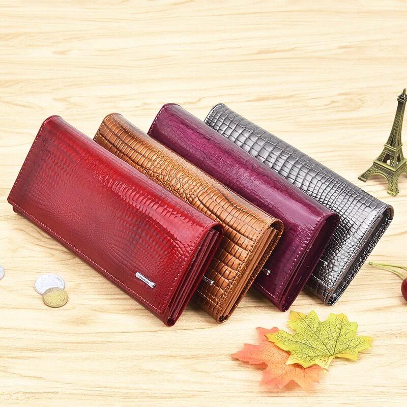 Женский кошелёк из натуральной кожи с Алиэкспресс