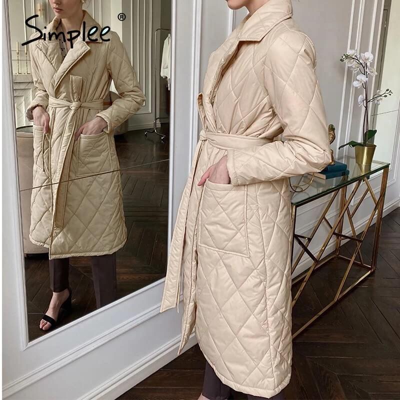 Женское зимнее пальто с Алиэкспресс