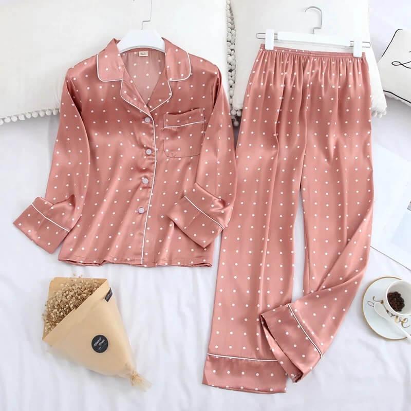 Красивый женский пижамный комплект с Алиэкспресс