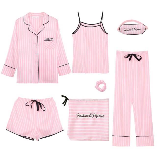 Пижамный комплект из 7 элементов с Алиэкспресс