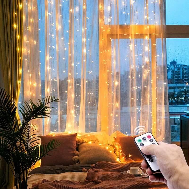 Светодиодная гирлянда-штора с Алиэкспресс