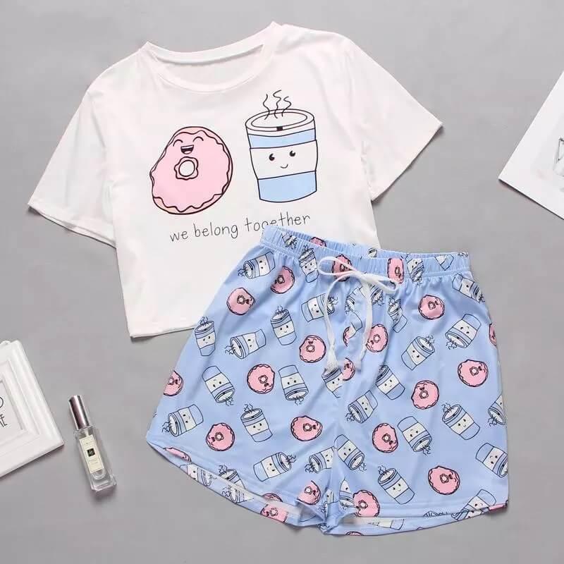 Женская пижама с милым принтом с Алиэкспресс