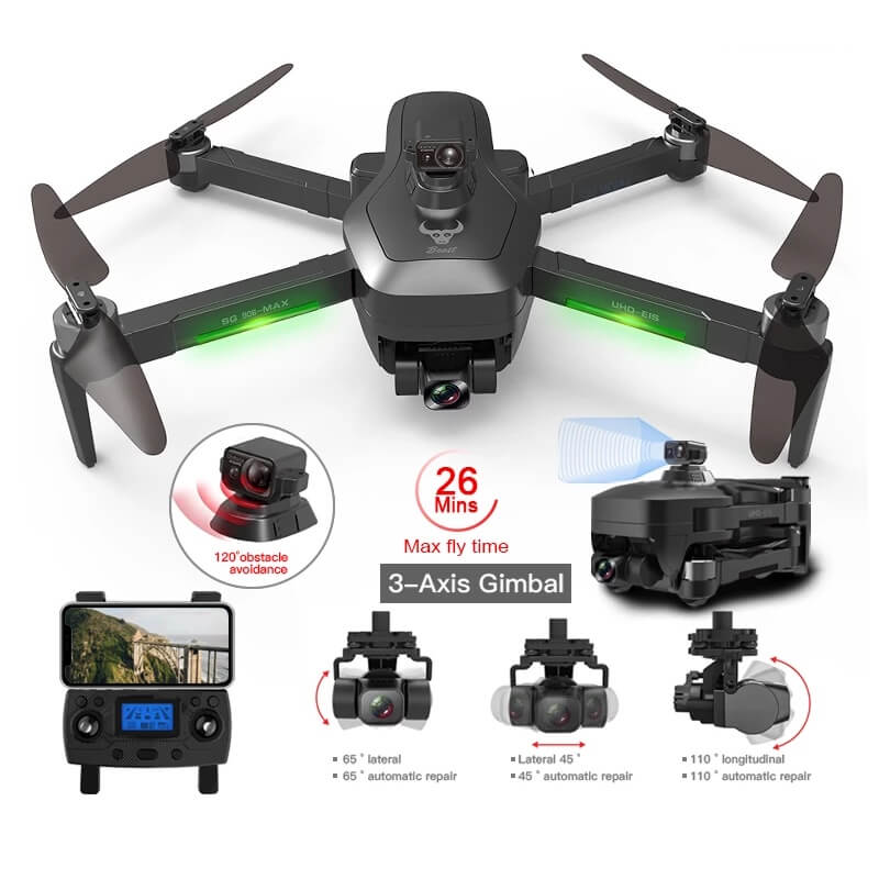 Квадрокоптер с 4К камерой Salmoph SG906 Pro с Алиэкспресс