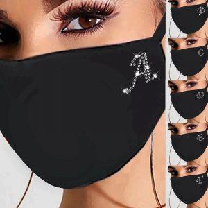 Женская хлопковая маска со стразами с Алиэкспресс
