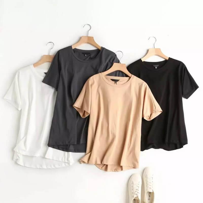Женская однотонная футболка Daveanddi с Алиэкспресс