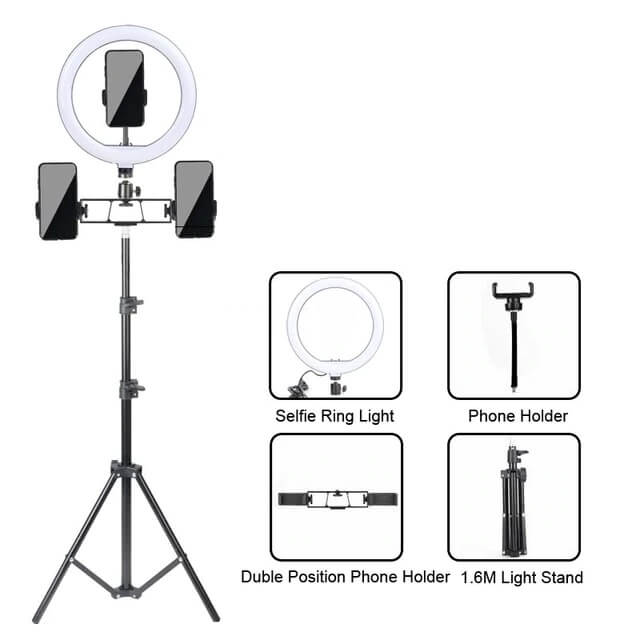 Кольцевая лампа KR-HXD01-02 с Алиэкспресс