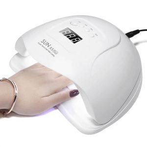 LED лампа для маникюра RohwxySUN X5 Plus 80W с Алиэкспресс